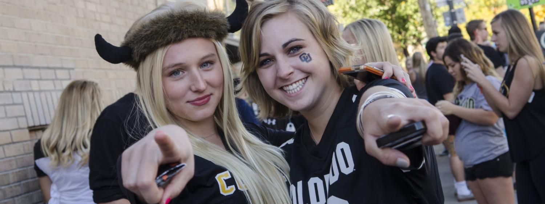 Students at homecoming.