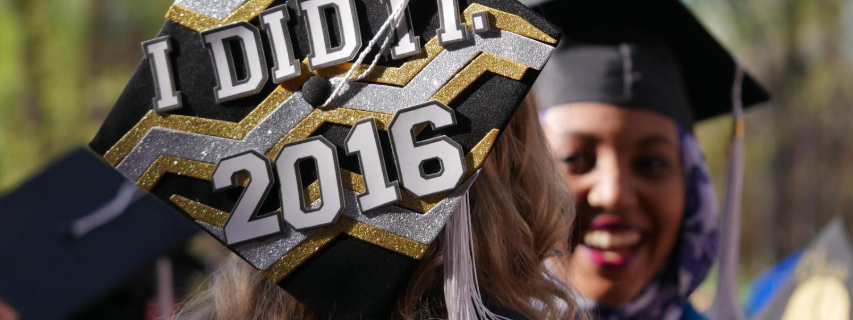 CU Engineering students celebrating at graduation.