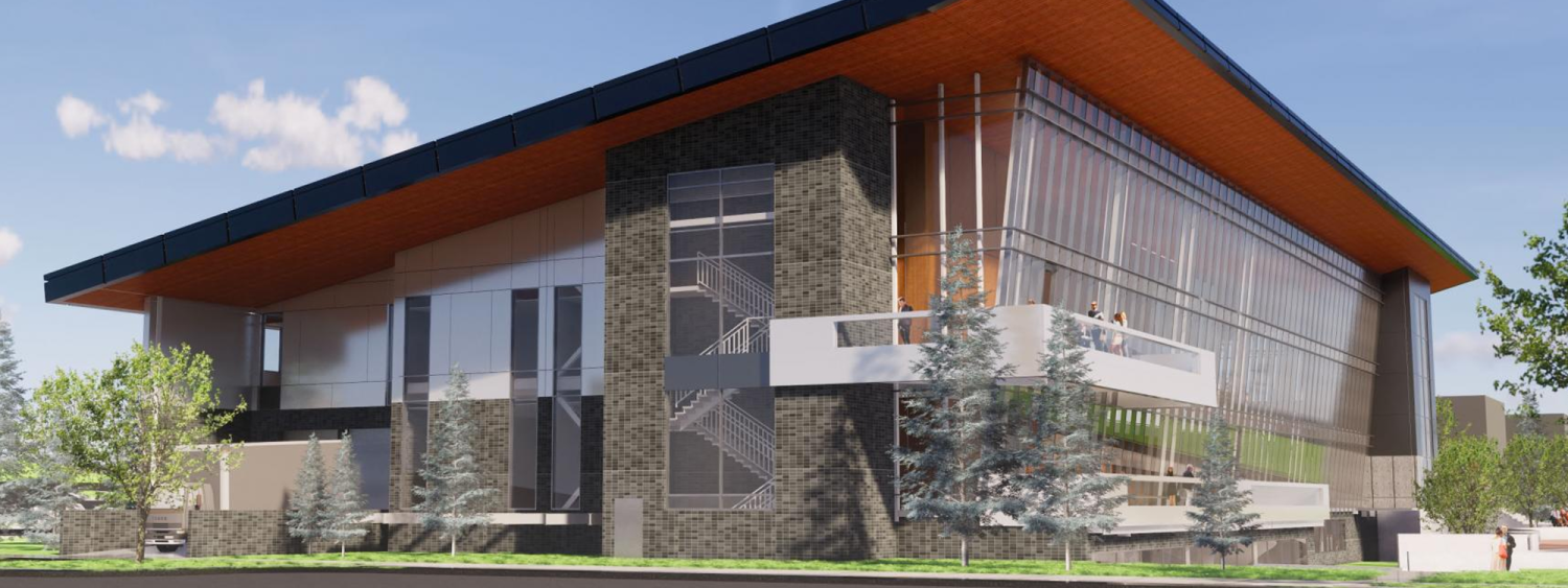 A rendering of the new engineering building on the Western Colorado University campus.