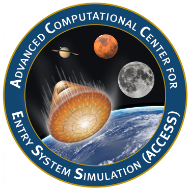 The center's logo reading Advanced Computational Center for Entry System Simulation (ACCESS)   - aerospacecapsulerender final - CU Boulder to lead new $15M NASA Space Tech Research Institute | College of Engineering & Applied Science