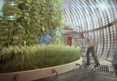 Artist rendering of internal Mars Greenhouse