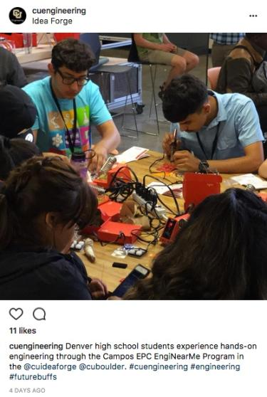 EngiNearMe participants experience hands-on engineering at the Idea Forge