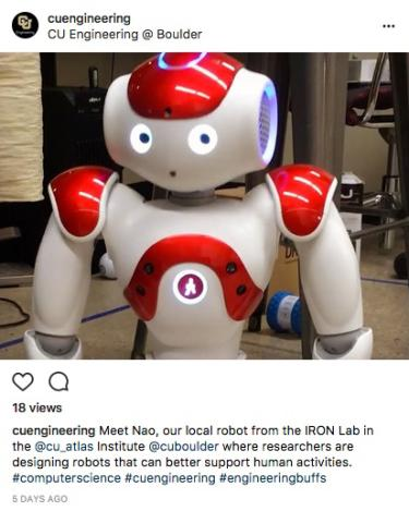 Nao the robot shows off some moves