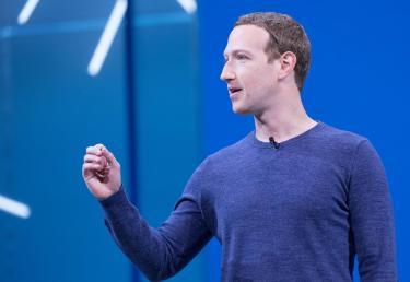 Mark Zuckerberg speaking in public