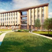 Rendering of the new buildng.