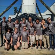 Team photo for the 2018 CU hyperloop team.