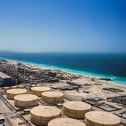 A desalination facility in Dubai along the Persian Gulf coastline