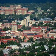 The CU Boulder campus as seen from above