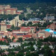 CU Boulder campus from the air