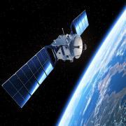 A Satellite in orbit around earth