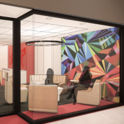A render of the BOLD Center entrance way after the renovation