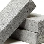 Concrete bricks stacked