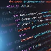 Computer screen showing code being written