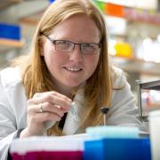 Kristi Anseth working in lab