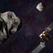 Header image: Illustration of NASA's DART spacecraft and the Italian Space Agency's (ASI) LICIACube prior to impact at the Didymos binary system.