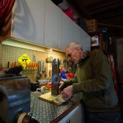 Dave Hunt in his workshop