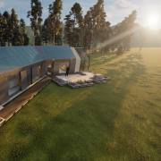 A rendering of the team's house.