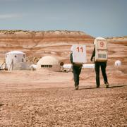 Students at the Mars Desert Research Station