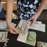 A close up of a team's low-cost educational breadboard at Catalyze CU.