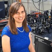 Juliet Gopinath in her lab