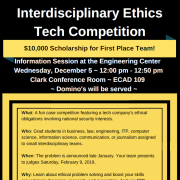 Ethics Tech Competition flyer