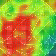 Abstract heat map illustration