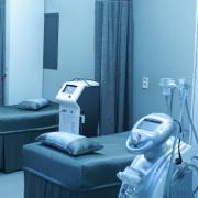 An empty hospital ward.
