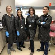 The team in a laboratory.
