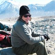 Diane McKnight during a fieldwork visit to the McMurdo Dry Valleys