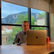 Dean Bobby Braun at computer