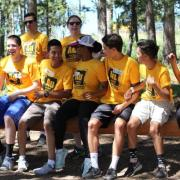 GoldShirt students at Gold Hill