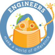 "A TeachEngineering logo, with a robot and the words ""Engineers make a world of difference."""