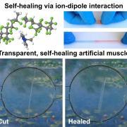 Visual of the self healing material.