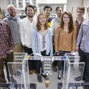 A group shot of the Keplinger Research Group members in their lab.