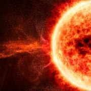 Solar flare on the sun
