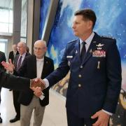 Gen. David Thompson, vice chief of space operations for the U.S. Space Force visits CU Boulder
