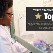 Three engineering graduate programs rank in the top 20: Aerospace, chemical and environmental