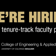 Graphic reading We're hiring multiple tenure-track faculty positions