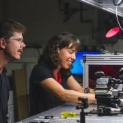 CU researchers in a lab