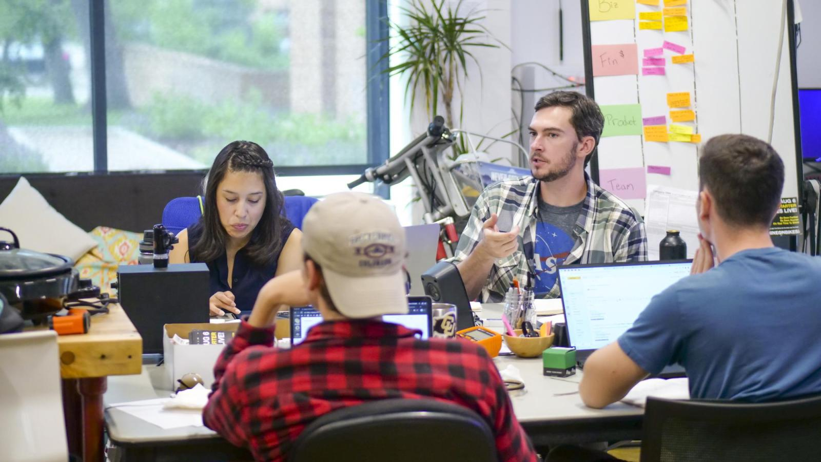 Students work at Catalyze CU in summer 2019