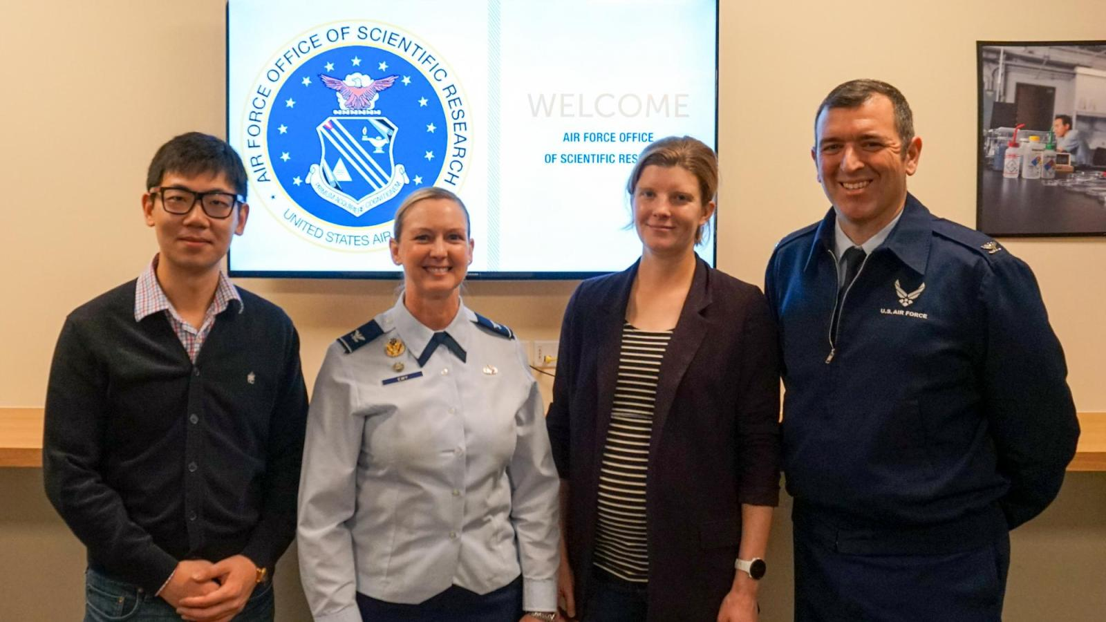 CU Engineering and Air Force representatives pose for photo