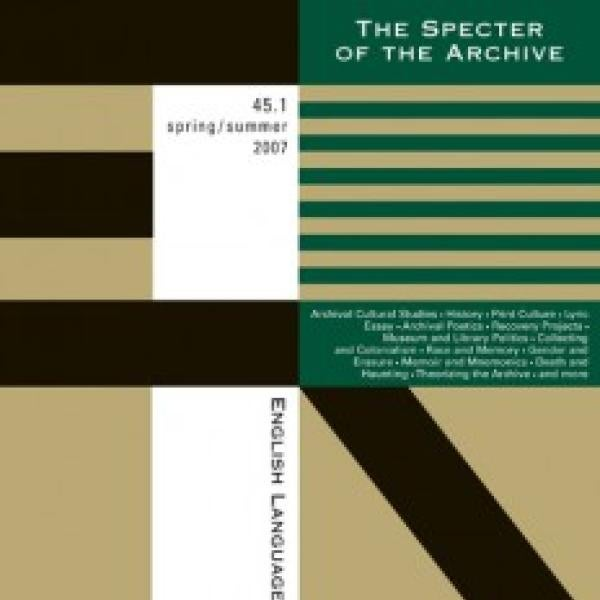 The Specter of the Archive journal cover