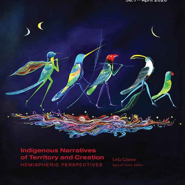 Five illustrated birds walking
