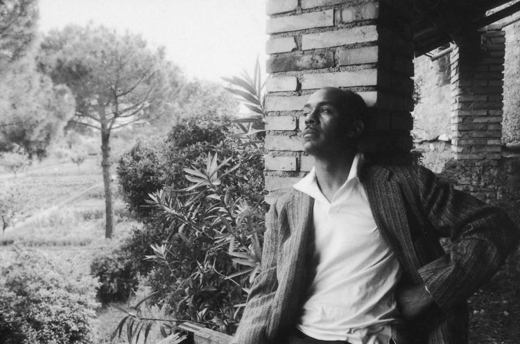 Black and white photo of Ralph Ellison