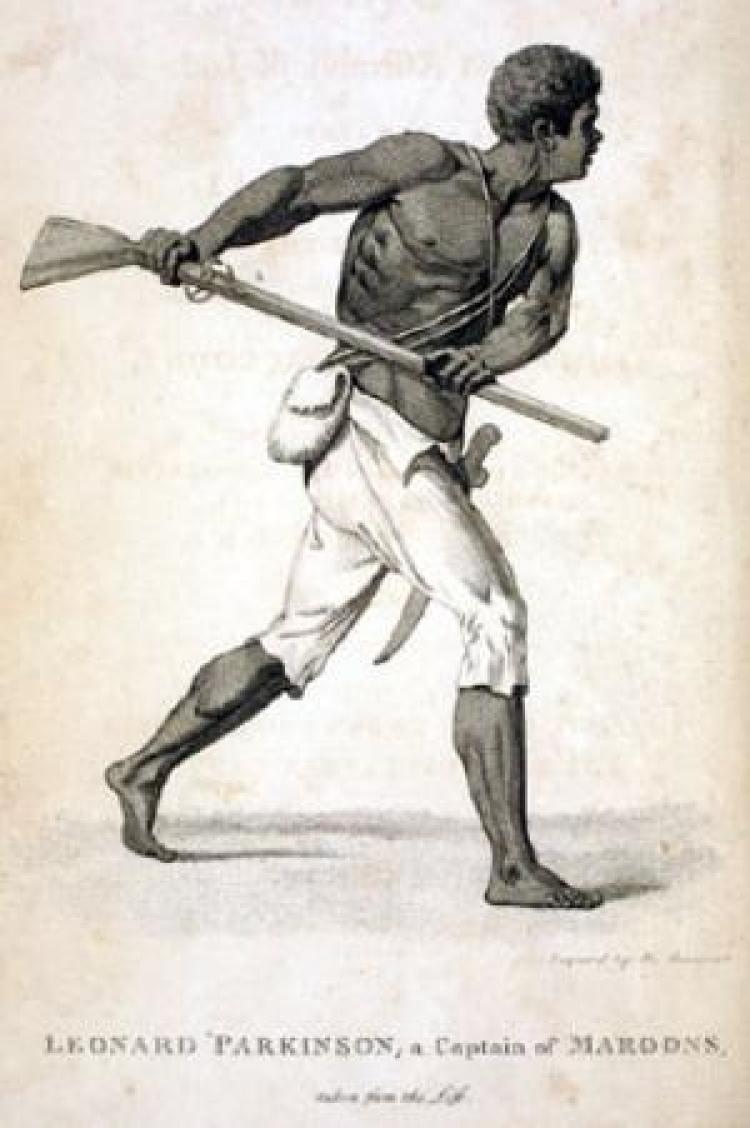 Illustration of a man with a gun