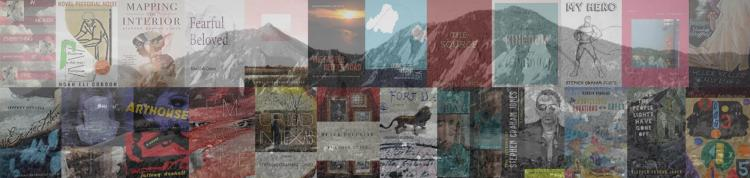 Montage of book covers from published creative writing faculty