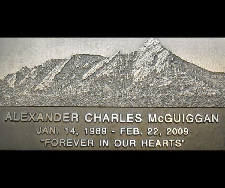 Alex's grave marker