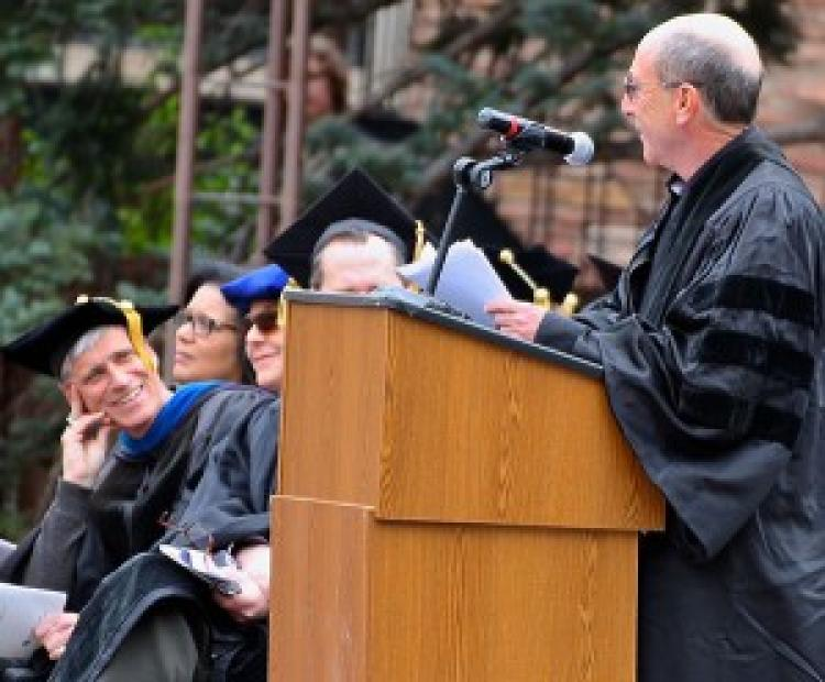 Art speaking at spring 2015 commencement