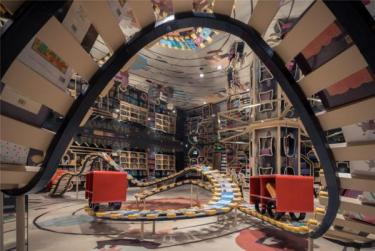 Inside of an eclectic bookstore