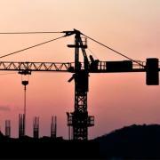 A crane across a skyline